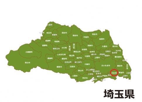 埼玉県の地図です