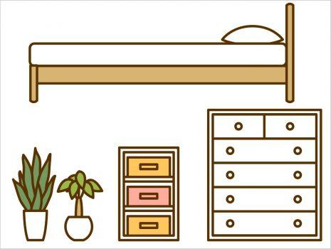 家具のイラストです