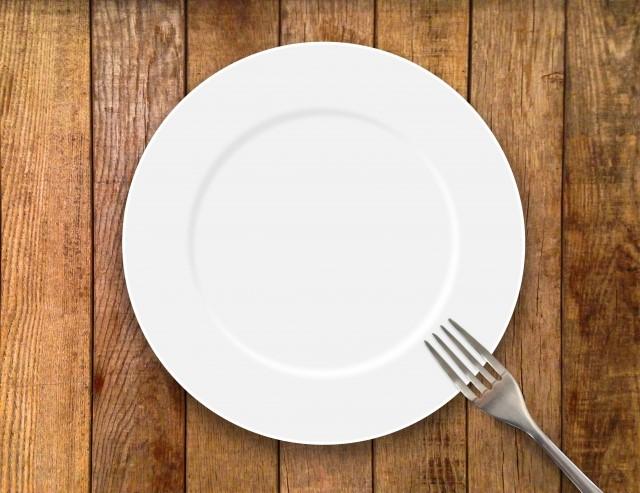 皿とフォークの写真です