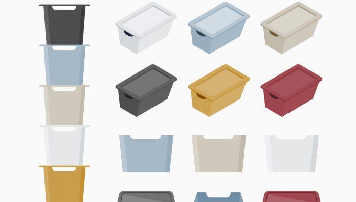 収納ボックスのイラストです