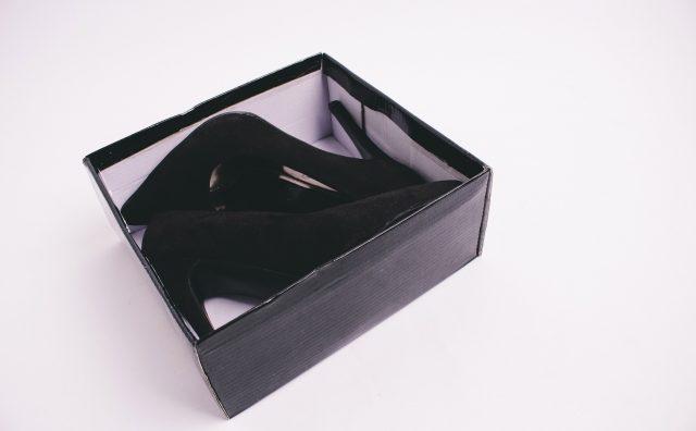 靴箱のハイヒール