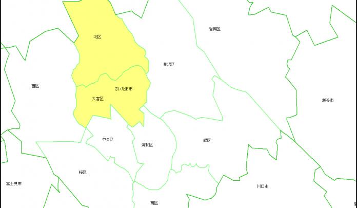 大宮区北区の地図の画像です