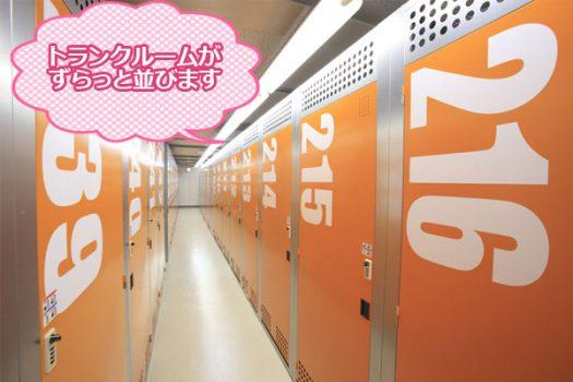 トランクルームがずらっと並びます