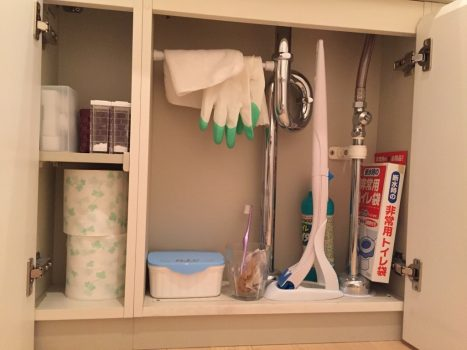 トイレの手洗い下収納