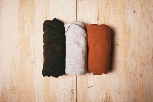 畳まれた衣類