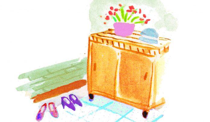 靴箱のイラスト