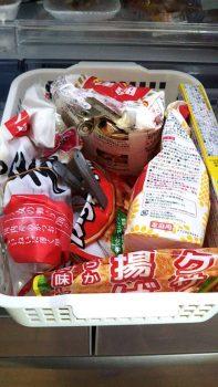 ボックスに収納した食品