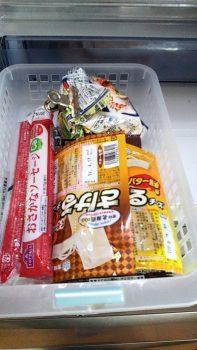 ボックスに収納した食品2