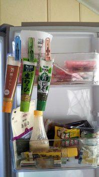 冷蔵庫の中のチューブ類
