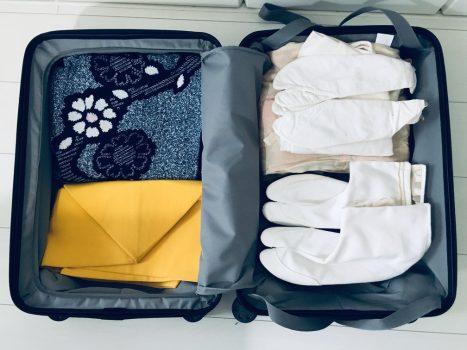 収納として活用する無印のスーツケース