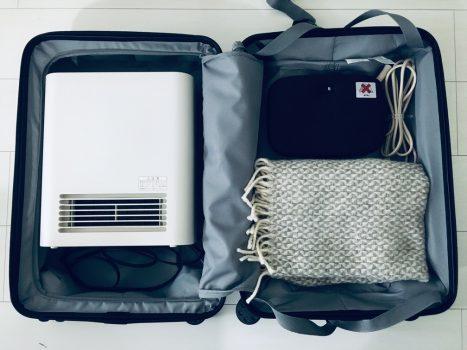 収納にしたスーツケース2