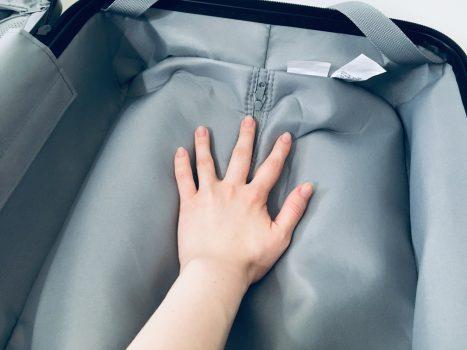 スーツケースの中の容量