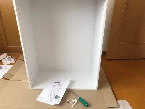 ニトリのカラーボックスを組み立てる