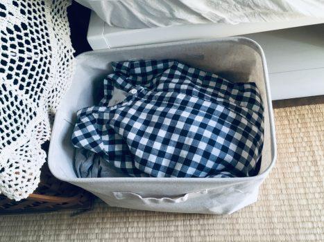 衣類を収納したソフトボックス