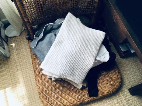 洗濯物の一時置き場となるボックス