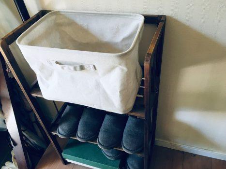 スリッパラックに設置したボックス
