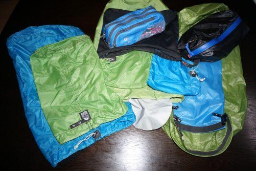 登山用のスタッフバッグ
