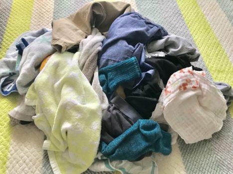 畳んでいない子供の洗濯物