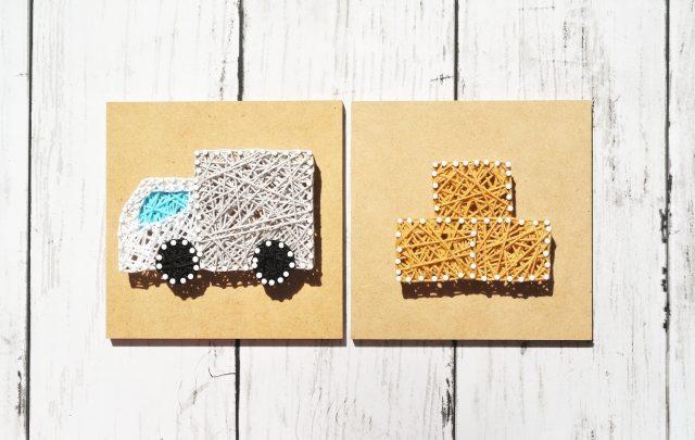 トラックと荷物のイメージ画像